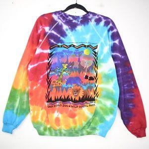 *Tie Dye* Vintage 90s San Diego Zoo Sweatshirt